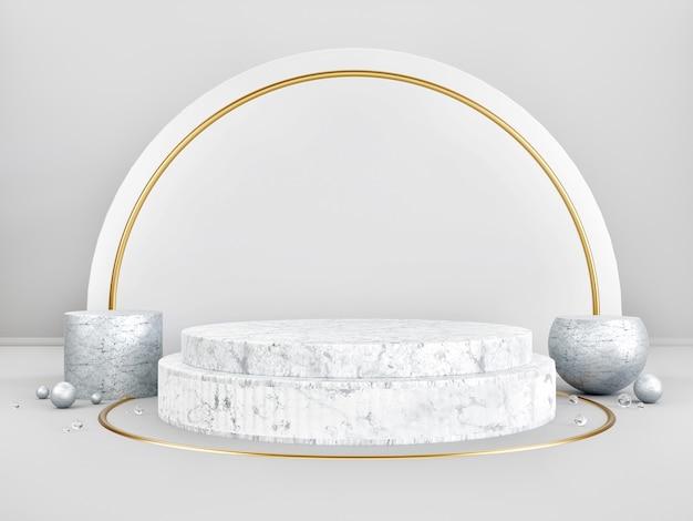 Fundo abstrato pódio do palco de exibição de produtos em mármore