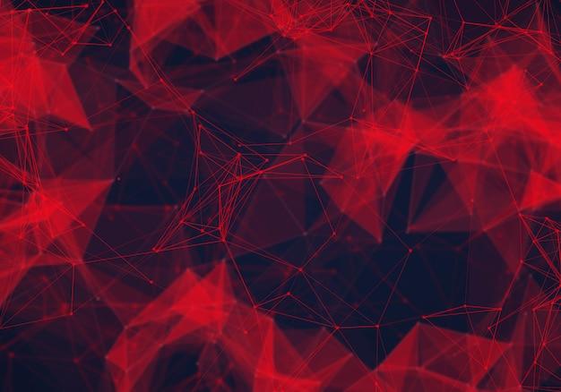 Fundo abstrato poli baixa vermelho escuro poligonal