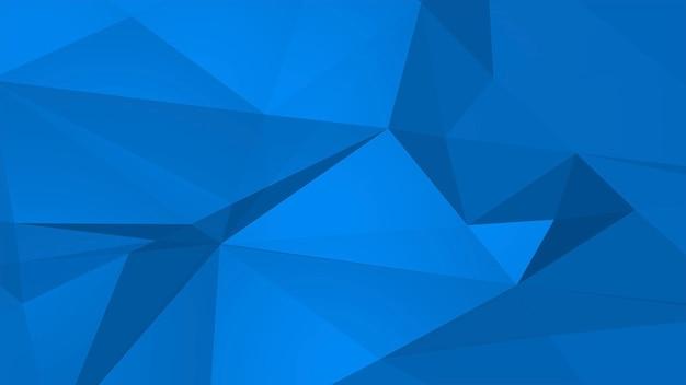 Fundo abstrato poli baixo azul, forma geométrica dos triângulos. estilo dinâmico elegante e luxuoso para negócios, ilustração 3d