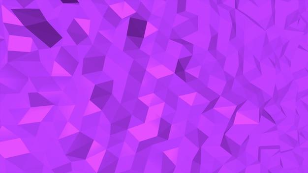 Fundo abstrato poli baixo roxo, forma geométrica de triângulos. estilo dinâmico elegante e luxuoso para negócios, ilustração 3d