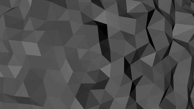 Fundo abstrato preto poli baixa, forma geométrica de triângulos. estilo dinâmico elegante e luxuoso para negócios, ilustração 3d