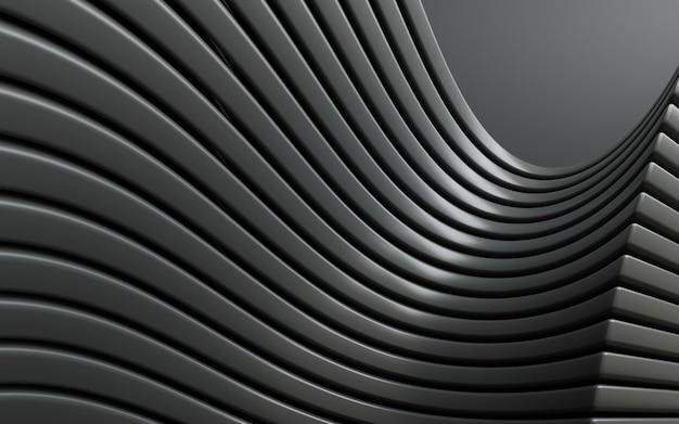 Fundo abstrato preto simples de renderização em 3d de forma geométrica