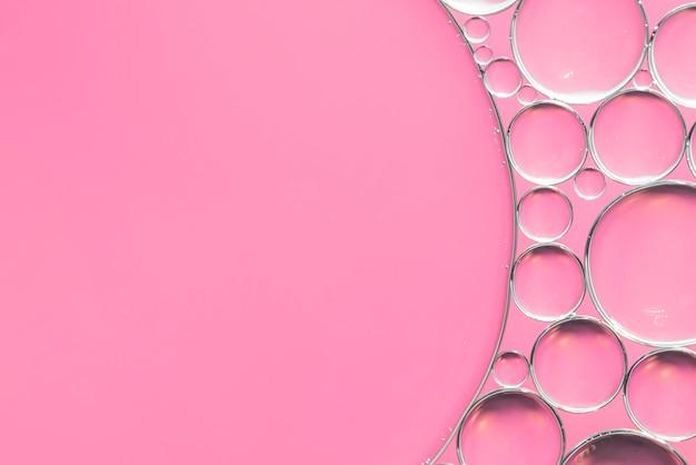 Fundo abstrato rosa com bolhas