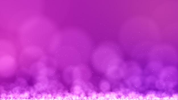 Fundo abstrato rosa escuro com partículas digitais como nevoeiro