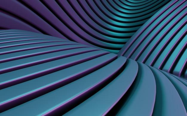 Fundo abstrato simples de renderização em 3d de forma geométrica