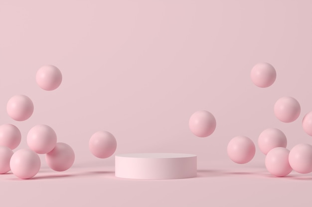 Fundo abstrato, simulação de cena com pódio para exposição do produto. renderização 3d