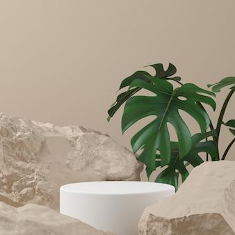 Fundo abstrato, simulação de cena para exposição do produto