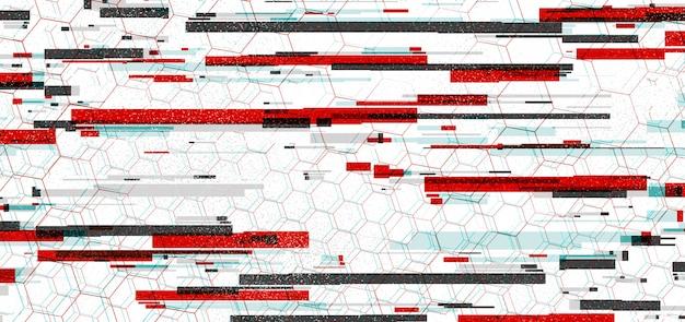 Fundo abstrato tecnologia de efeito de datamozing microwave retina vhs