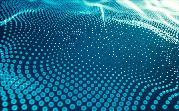 Fundo abstrato. tecnologia de moléculas com formas poligonais, conectando pontos e linhas. estrutura de conexão.
