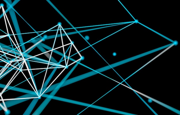 Fundo abstrato tecnologia digital. estrutura de conexão de rede.