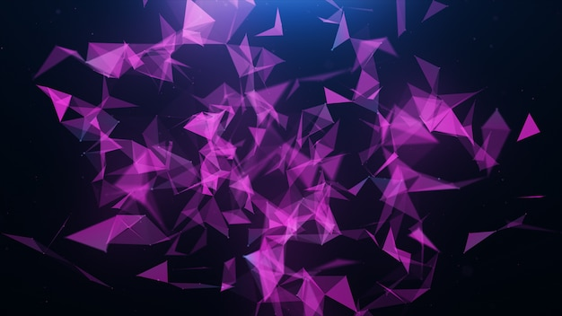Fundo abstrato triângulo plexo rosa