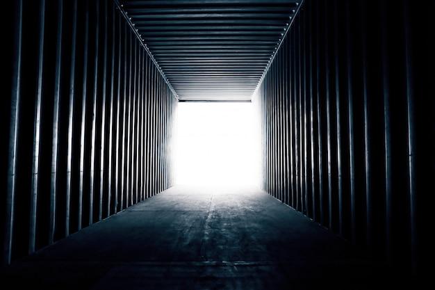 Fundo abstrato. um vazio no transporte de contêineres para fundo de logística