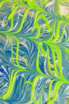 Fundo abstrato verde e azul