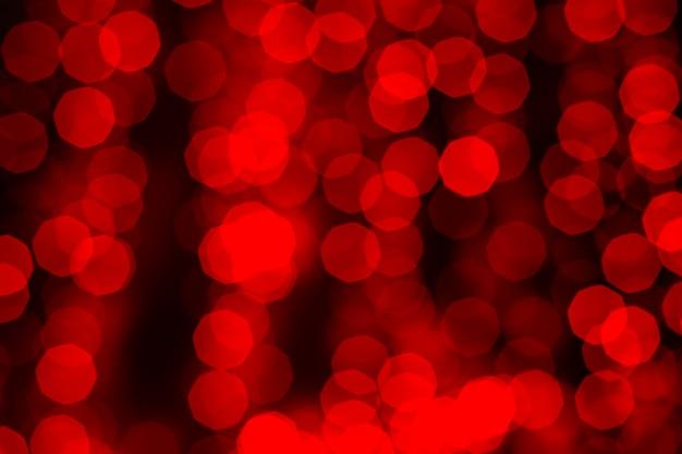 Fundo abstrato vermelho bokeh turva