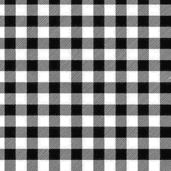 Fundo abstrato xadrez básico preto e branco sem costura
