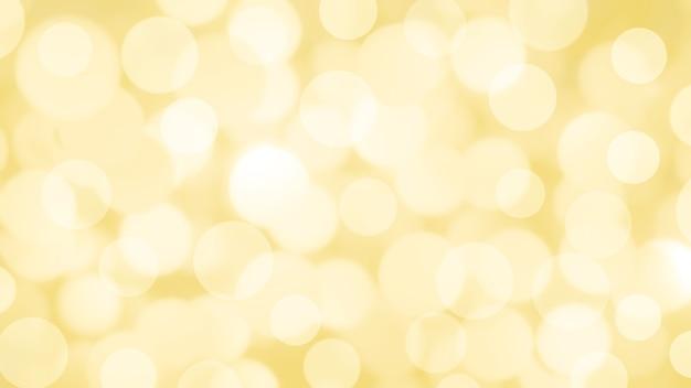 Fundo amarelo abstrato com bokeh de círculo. luz desfocada de brilho leve. fundo de textura de brilho.