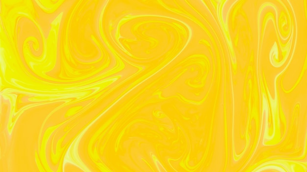 Fundo amarelo abstrato de mármore líquido