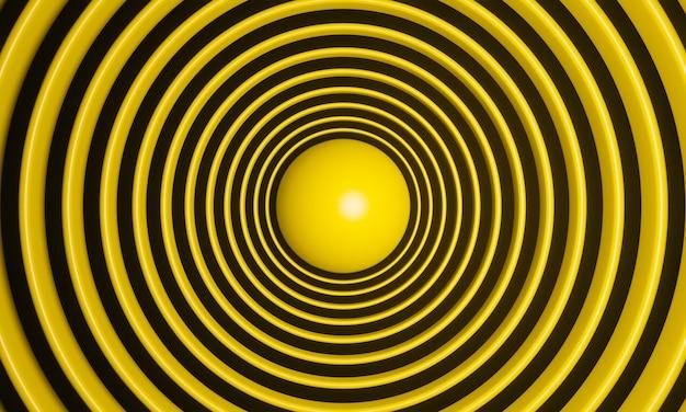 Fundo amarelo abstrato renderizado em 3d