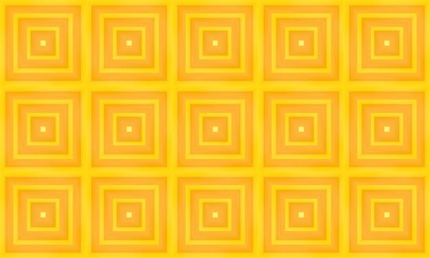 Fundo amarelo sem emenda moderno da parede do teste padrão da telha da grade do quadrado da cor amarela.