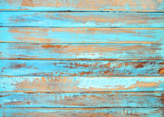 Fundo antigo da madeira da praia - prancha de madeira da cor azul vintage