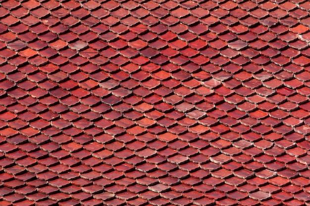 Fundo antigo do telhado de telha