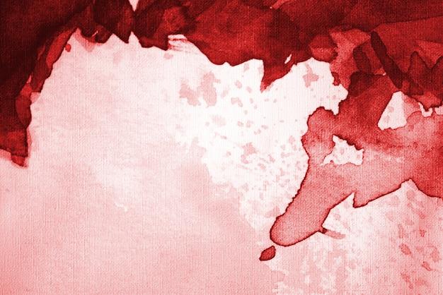 Fundo aquarela abstrato vermelho brilhante com espaço para texto