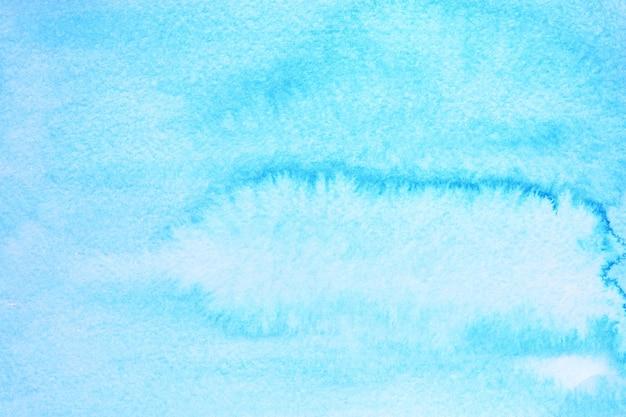 Fundo aquarela azul ciano com textura de papel. ilustração raster