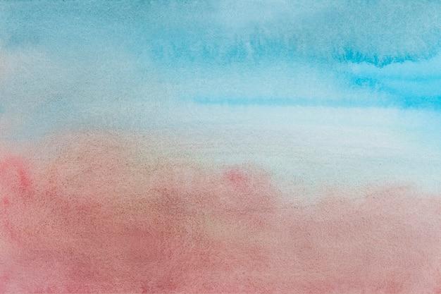 Fundo aquarela azul desbotado com estilo abstrato rosa