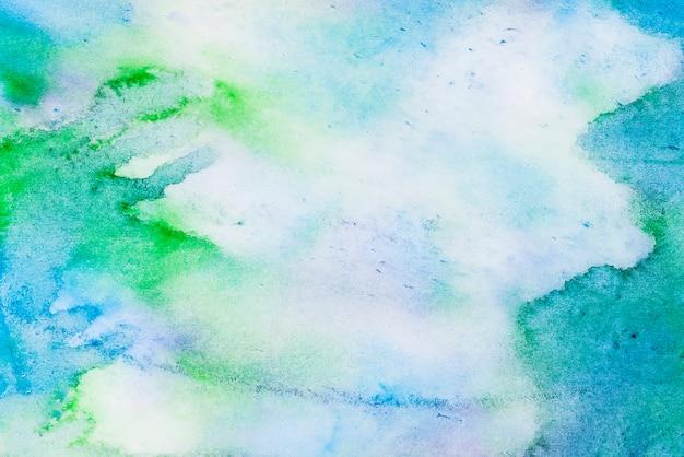Fundo aquarela azul e verde abstrato