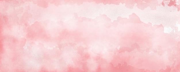 Fundo aquarela em cor vermelha, respingos de cor pastel suave e manchas com pintura de sangramento de franjas em formas abstratas de nuvens com papel