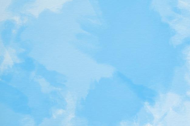 Fundo aquarela pintado à mão com forma de céu e nuvens