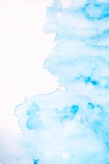 Fundo azul abstrato aquarelle manchas