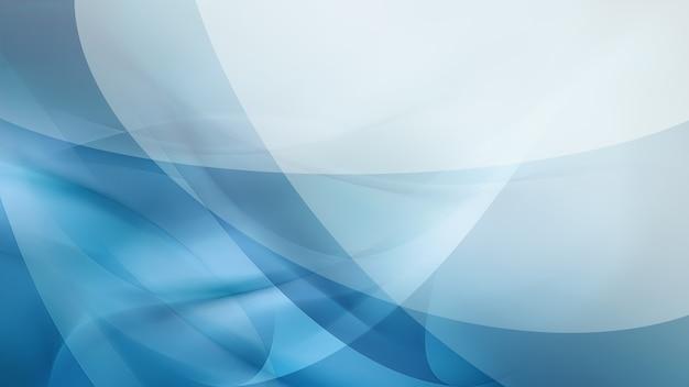 Fundo azul abstrato com linhas suaves brilhantes