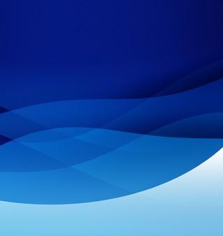 Fundo azul abstrato com linhas suaves