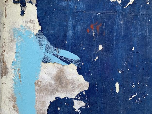 Fundo azul abstrato da textura da parede da cor