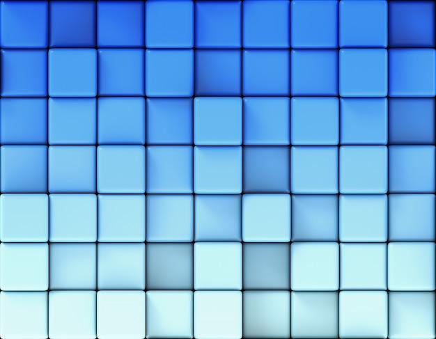 Fundo azul abstrato feito de cubos
