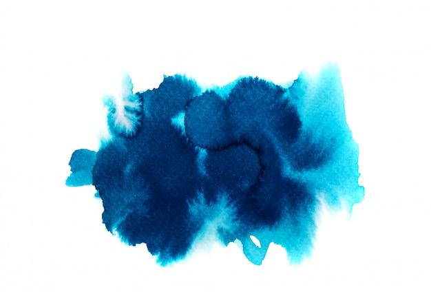 Fundo azul aquarela. arte pintura à mão