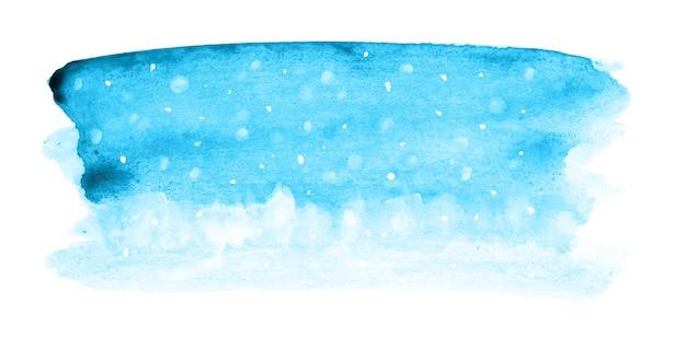 Fundo azul aquarela de natal