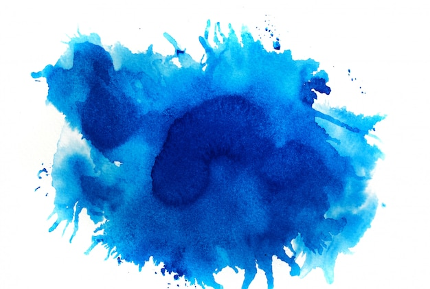 Fundo azul aquarela