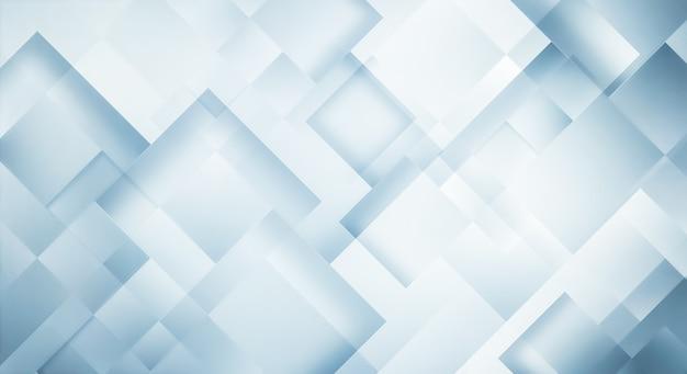 Fundo azul claro abstrato moderno com quadrados