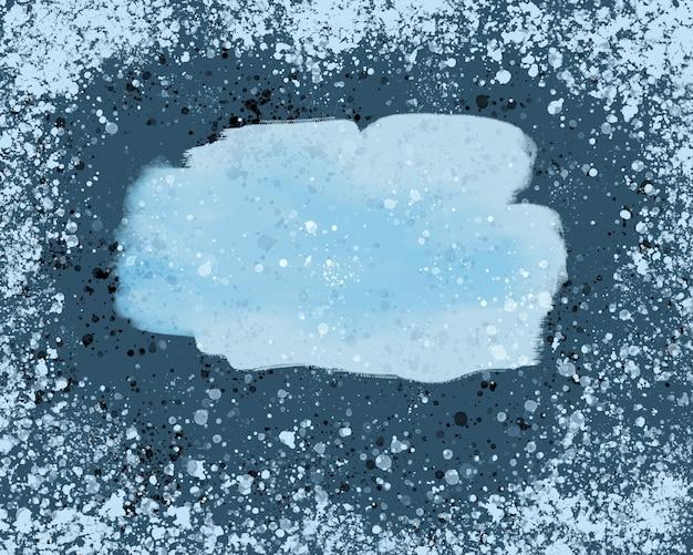 Fundo azul com gotas brancas e espaço vazio para uma inscrição