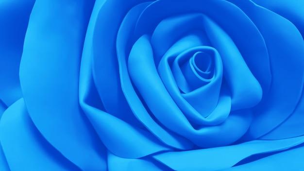 Fundo azul da flor de foamiran artificial rosa