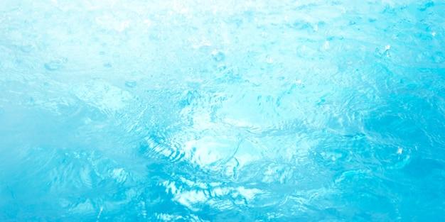 Fundo azul de superfície de água