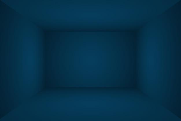 Fundo azul do gradiente de luxo abstrato. liso azul escuro com vinheta preta studio banner. sala de estúdio 3d.