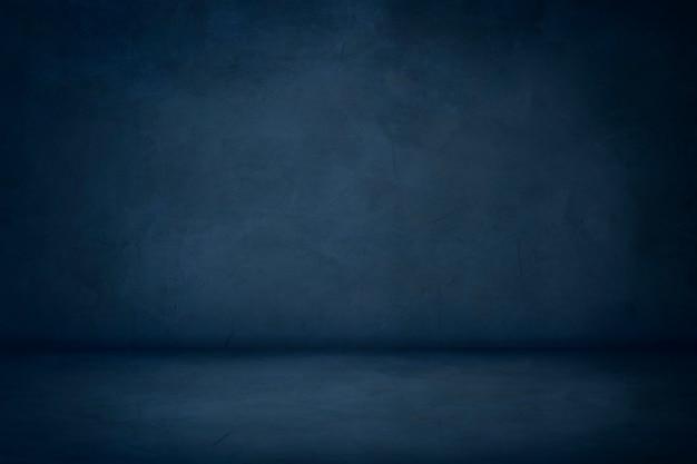 Fundo azul do quarto do estúdio do cimento
