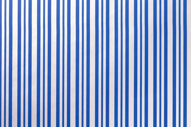 Fundo azul e branco de embrulho de papel listrado.