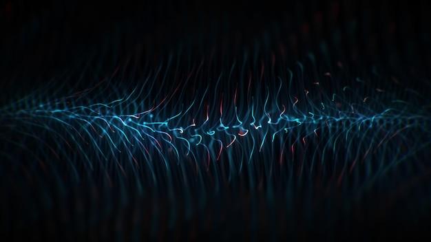 Fundo azul e vermelho abstrato da tecnologia.
