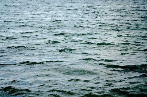 Fundo azul escuro da superfície da água.