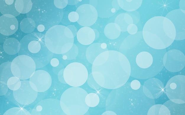 Fundo azul festivo com bokeh