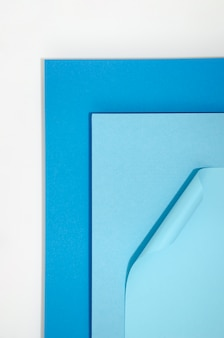 Fundo azul formas geométricas